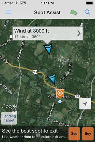 Spot Assist Windaloft On A Map